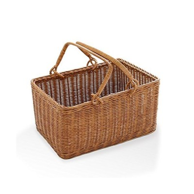 松野屋 籐2本手ピクニックバスケット/かごバッグ