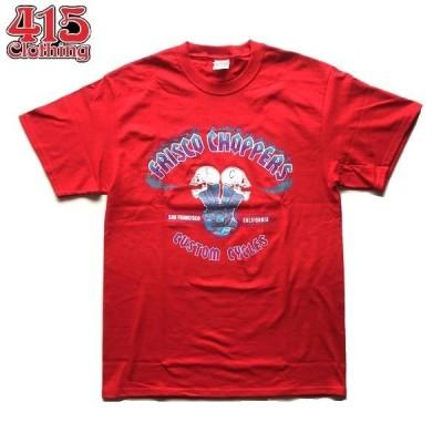 FRISCO CHOPPERS/フリスコチョッパーズ SKULL MOTOR SS TEE/Tシャツ・RED