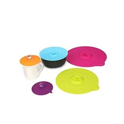 シリコン電子レンジフードカバー IPHOX 食品グレードクリエイティブダイヤモンドマグカバー [5個セット] 防塵密閉カップカバー 5サイズ 耐熱シリ好評販売中