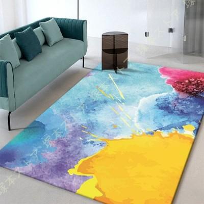 ラグマット ラグカーペット 北欧 洗える 滑り止め付 抗菌 抽象 多機能 カーペット おしゃれ 新生活 部屋 絨毯 ラグ リビング マット フロアマット