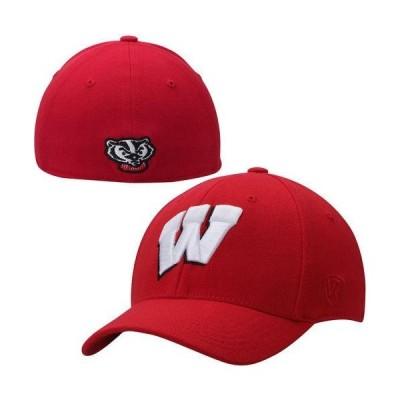 ユニセックス スポーツリーグ アメリカ大学スポーツ Wisconsin Badgers Top of the World Memory 1Fit Flex Hat - Red 帽子