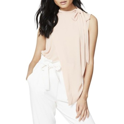 RACHEL Rachel Roy Mock-Neck Asymmetrical Top (Pink Opal, Medium)