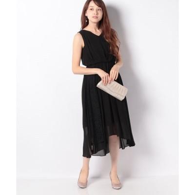 【エイミーパール(ドレス)】サイドレースロングドレス