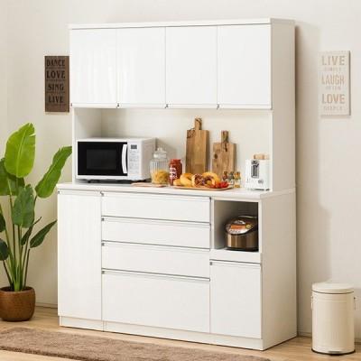 食器棚(レジューム 150TF-H WH/150SH-R WH) ニトリ 『配送員設置』 『5年保証』