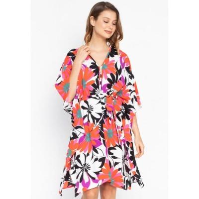 ジョジー Josie レディース パーティードレス カフタン ワンピース・ドレス Bold Floral Kaftan Dress Black/Red/Fuchsia
