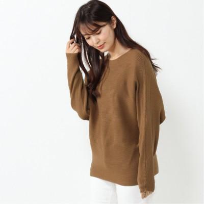 【nojean】横編みボートネックセーター【M―3L】(ノージーン/NO JEAN)