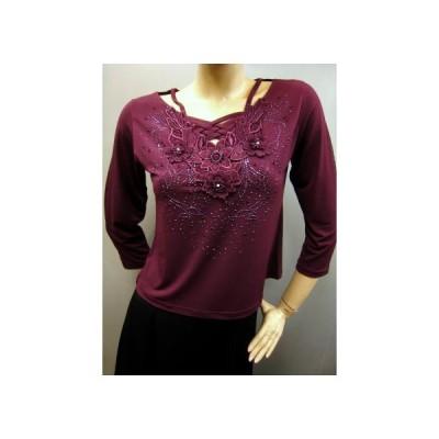 社交ダンス コーラス ダンスストップス レディース ダンスウェア 衣装 Mサイズから Lサイズ 赤紫