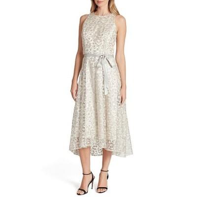 タハリエーエスエル  レディース ワンピース トップス Embroidered Lace Sleeveless Hi-Low Midi Dress