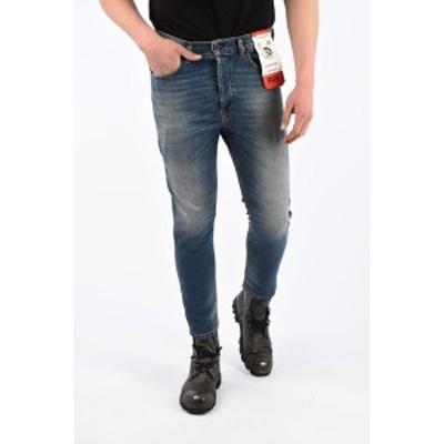 DIESEL/ディーゼル Blue メンズ 17cm Stonewashed D-EETAR Tapered Fit Jeans L.32 dk