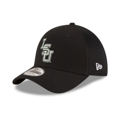 ニューエラ メンズ 帽子 アクセサリー LSU Tigers Black White Neo 39THIRTY Cap