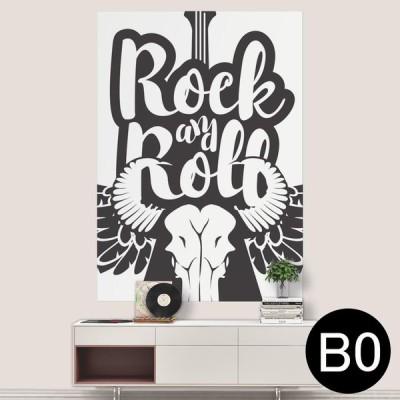 ポステッカー ポスター ウォールステッカー シール式ステッカー 飾り 1030mm×1456mm B0 写真 フォト 壁 音楽 ロック ギター 014469