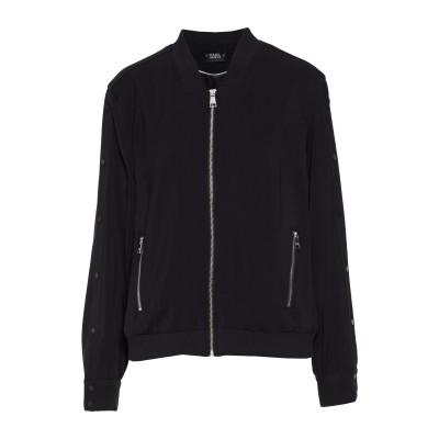 カールラガーフェルド KARL LAGERFELD コート ブラック XL レーヨン 97% / ポリウレタン 3% コート