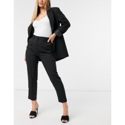 エイソス レディース カジュアルパンツ ボトムス ASOS DESIGN Hourglass mix & match ultimate ankle grazer suit pant Black