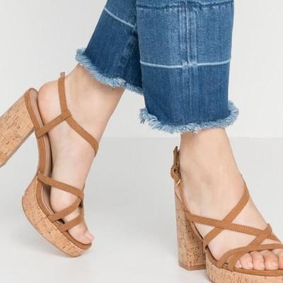 レディース サンダル ONLAERIN - High heeled sandals - cognac