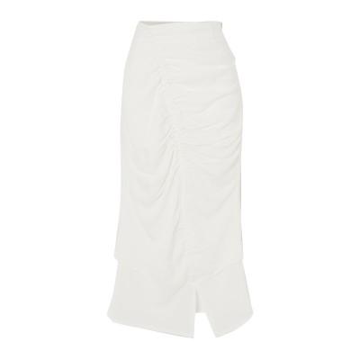 THE LINE BY K ロングスカート ホワイト M レーヨン 86% / ナイロン 14% ロングスカート