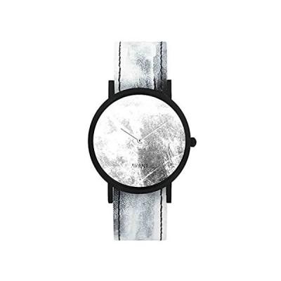 特別価格South Lane ステンレススチール スイス製クオーツ腕時計 レザーカーフスキンストラップ ブラック 20 (モデル:AW18-2-36)好評販売中