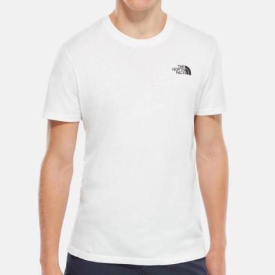 ノースフェイス Tシャツ メンズ 正規品 THE NORTH FACE 半袖Tシャツ クルーネック ロゴTシャツ SHORT SLEEVE SIMPLE DOME TEE NF0A2TX5 TNF WHITE