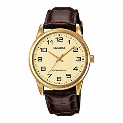 腕時計 カシオ メンズ Casio Men's Mtp-v001gl-9b Quartz Watch with Genuine Leather