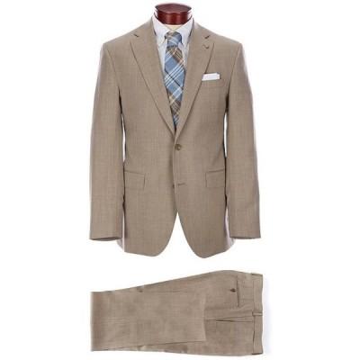 ダニエル クレミュ メンズ ジャケット・ブルゾン アウター Modern Fit Solid Tan Flat Front Wool Suit