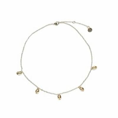 "Pura Vida Gold Cowrie Shell Choker Necklace - Brand Charm - 14-Inch, 2"" Extender"