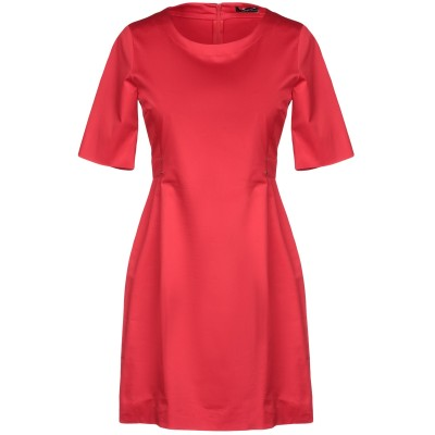 PENNYBLACK ミニワンピース&ドレス レッド 42 コットン 96% / ポリウレタン 4% ミニワンピース&ドレス