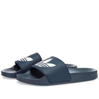 アディダス Adidas メンズ サンダル シューズ・靴 Adilette Lite Collegiate Navy/White