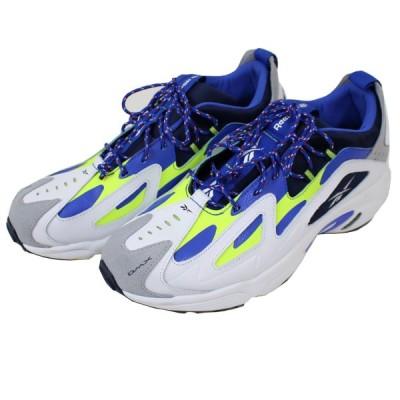 【12月2日値下】Reebok DMX SERIES 1200 スニーカー 【靴紐交換済】 ホワイト、ブルー他 サイズ:28.5cm (高槻店)