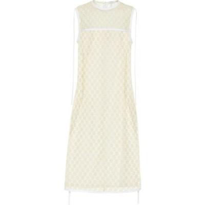 ロエベ Loewe レディース ワンピース ワンピース・ドレス Floral lace dress Yellow