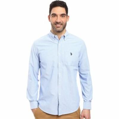 ユーエスポロアッスン U.S. POLO ASSN. メンズ シャツ ワイシャツ トップス Long Sleeve Classic Fit Solid Oxford Cloth Button Down Sp