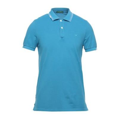 SHOCKLY ポロシャツ アジュールブルー M コットン 95% / ポリウレタン 5% ポロシャツ