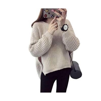 プールオーバー セーター レディース 秋冬 コート 韓国風 ゆったり 学生 ニット ローゲージニット ショート丈