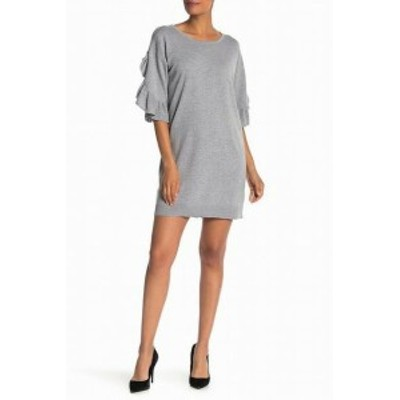 max マックス ファッション ドレス Max Studio NEW Gray Womens Size XL Ruffle Sleeve Sweater Dress