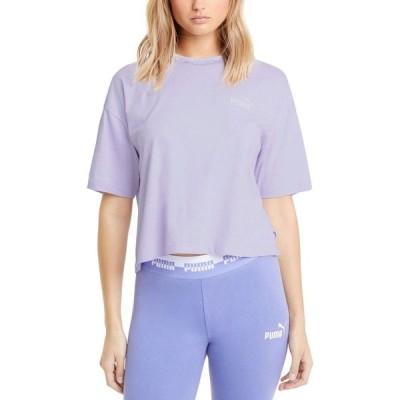 プーマ Puma レディース ベアトップ・チューブトップ・クロップド Tシャツ トップス Amplified Logo Cropped T-Shirt Light Lavender