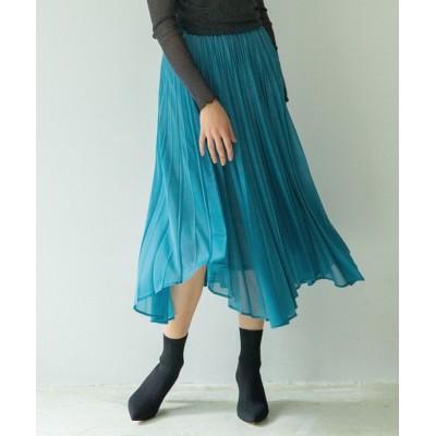 NARACAMICIE / トリコットジグザグヘムプリーツスカート WOMEN スカート > スカート