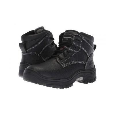 SKECHERS Work スケッチャーズ レディース 女性用 シューズ 靴 ブーツ ワークブーツ Burgin - Krabok - Black