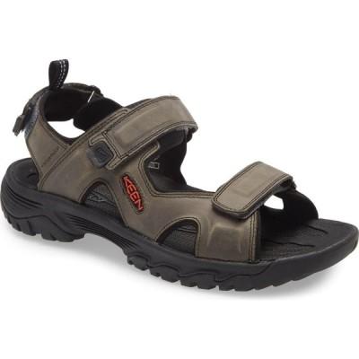 キーン KEEN メンズ サンダル シューズ・靴 Targhee III Sandal Grey/Black