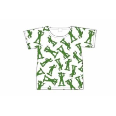 【ピクサーキャラクター】Tシャツ【M】【グリーンアーミーメン】【エイリアン】【トイストーリー】【バズ】【ウッディ】【ピクサー】【デ