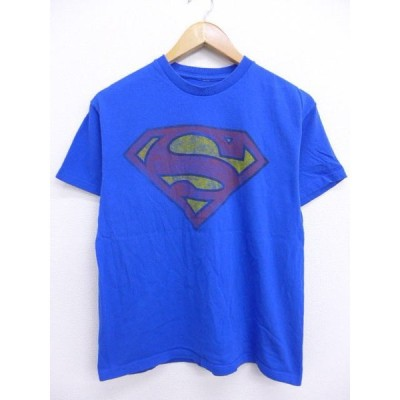 M/古着 Tシャツ DCコミックス スーパーマン 青 ブルー 19jun24 中古 メンズ 半袖