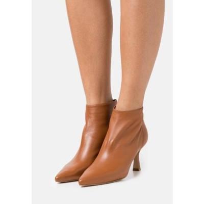 レディース 靴 シューズ Ankle boots - cognac