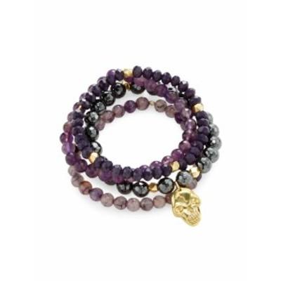 グッドシャルマ レディース ブレスレット Skull Charm Bracelets (Set of 4)