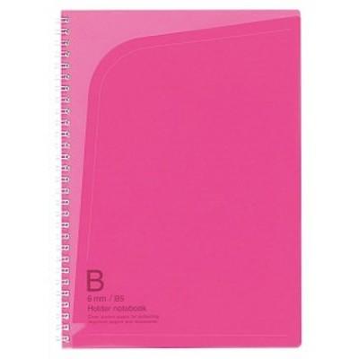 【メール便発送】コクヨ ツインリングノート ホルダータイプ セミB5 B罫 6号(セミB5) 40枚 ピンク ス-T258P 〔1冊〕
