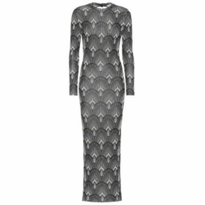 パコラバンヌ Paco Rabanne レディース ワンピース ワンピース・ドレス metallic stretch-knit dress Black Jacquard