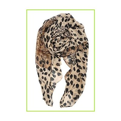 YOUR SMILE Ladies/Women's Lightweight Floral Print/Solid Color mixture Shawl Scarf For Spring Summer season (Leopard 2)【並行輸入品】