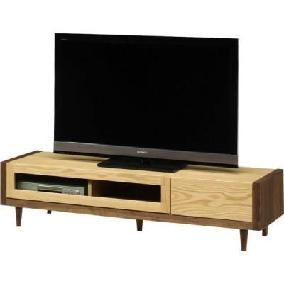 テレビ台 テレビボード ローボード 幅150 高さ37 ウォールナット オーク材 無垢 天然木 エコ塗装 脚付き カントリー調 国産 完成品
