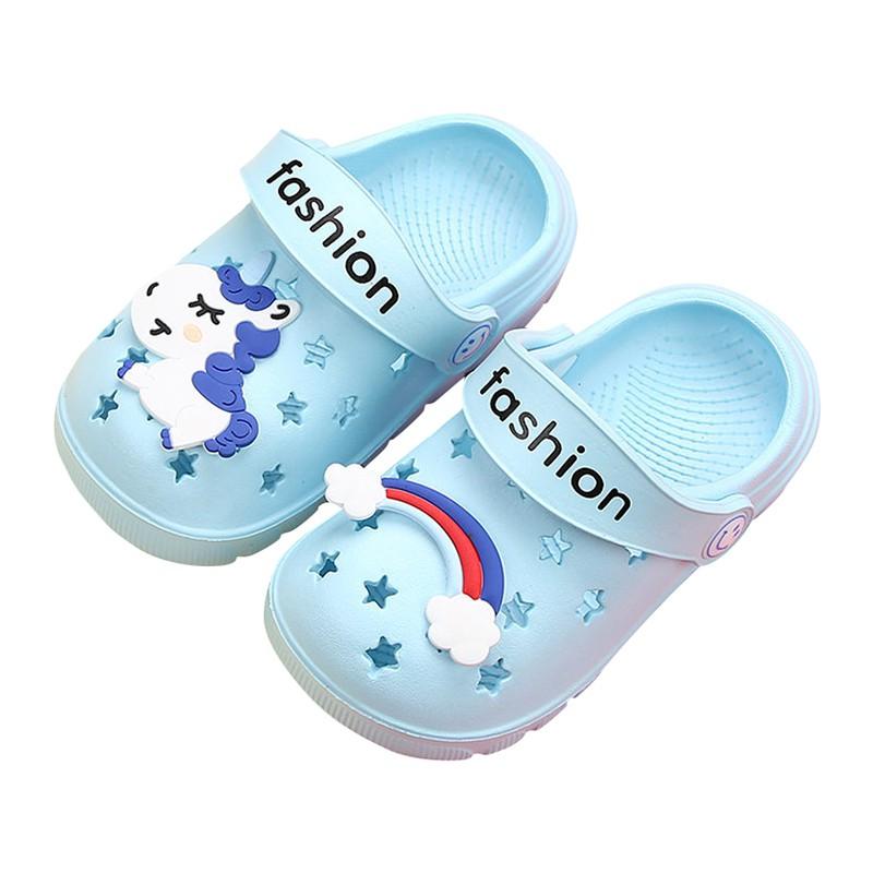 兒童拖鞋 防滑透氣女童涼拖鞋 沙灘鞋 嬰幼兒 男童寶寶卡通洞洞鞋【IU貝嬰屋】