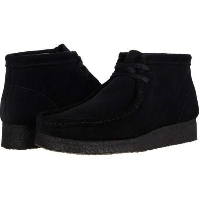クラークス Clarks レディース ブーツ シューズ・靴 Wallabee Boot Black Suede