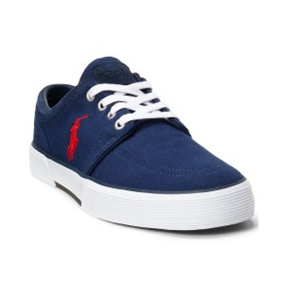 ラルフローレン メンズ スニーカー シューズ Men's Faxon Herringbone Lace-Up Low-Top Sneakers Newport Navy