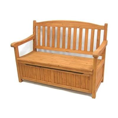 ガーデンベンチ ベンチ 収納庫付き 収納ボックス ガーデニング 屋外 ガーデン 庭?ベランダ 天然木 DIY エクス?