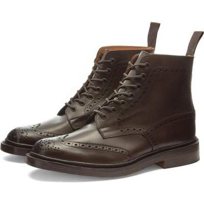 トリッカーズ Trickers メンズ ブーツ メダリオン シューズ・靴 stow brogue boot Espresso Burnished