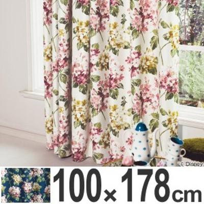 カーテン 遮光カーテン スミノエ アリス アジサイ 100×178cm ( 送料無料 遮光 ディズニー ドレープカーテン Disney ふしぎの国の